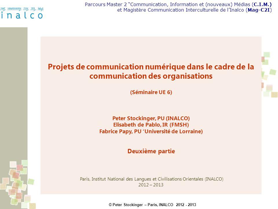 Projets de communication numérique dans le cadre de la communication des organisations