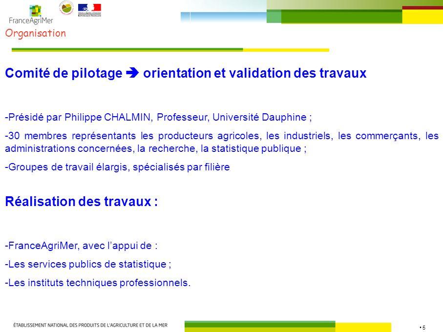 Comité de pilotage  orientation et validation des travaux