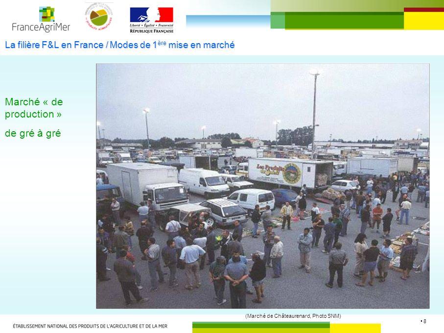 La filière F&L en France / Modes de 1ère mise en marché