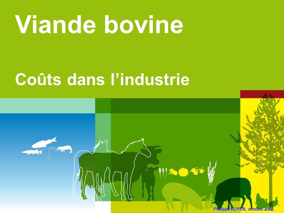 Viande bovine Coûts dans l'industrie Philippe BOYER, octobre 2012