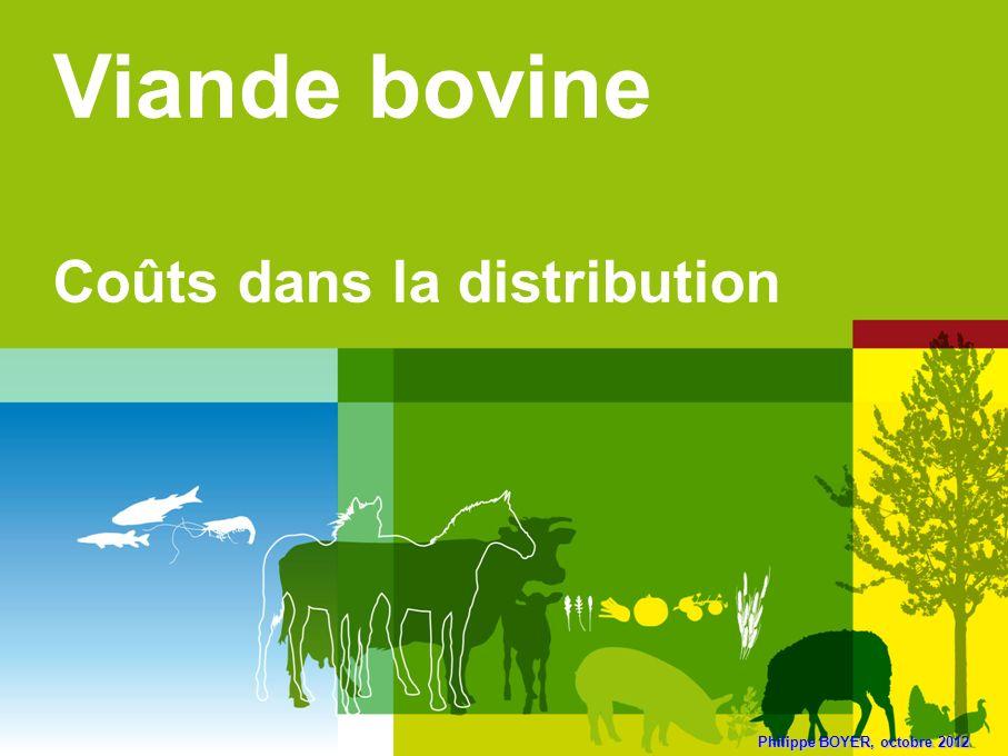 Viande bovine Coûts dans la distribution Philippe BOYER, octobre 2012