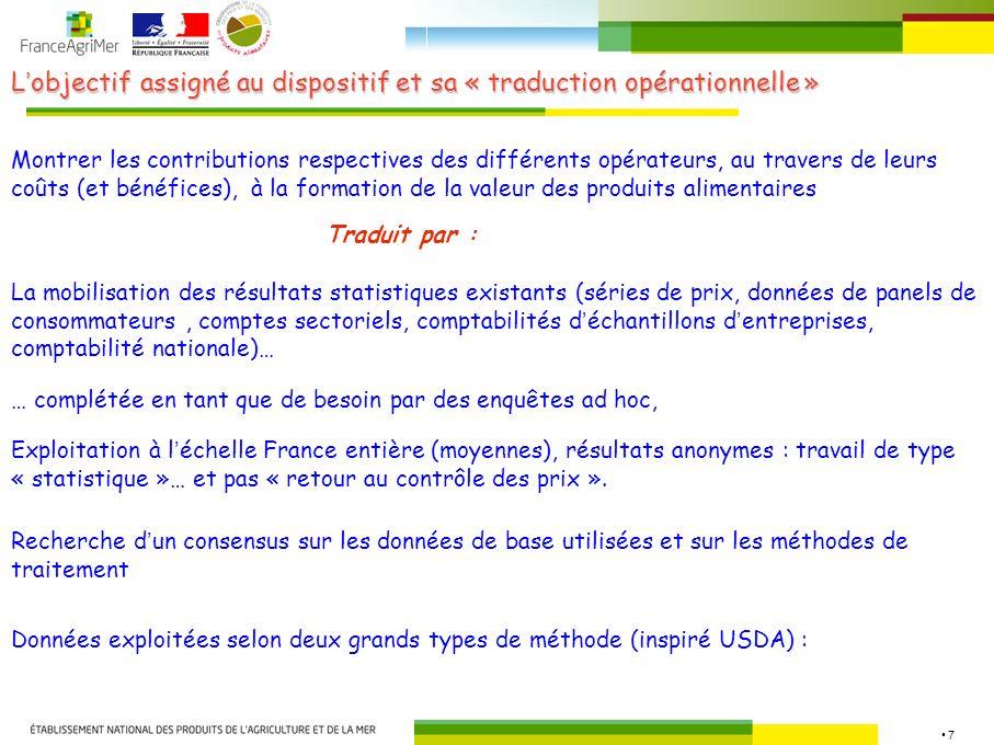 L'objectif assigné au dispositif et sa « traduction opérationnelle »
