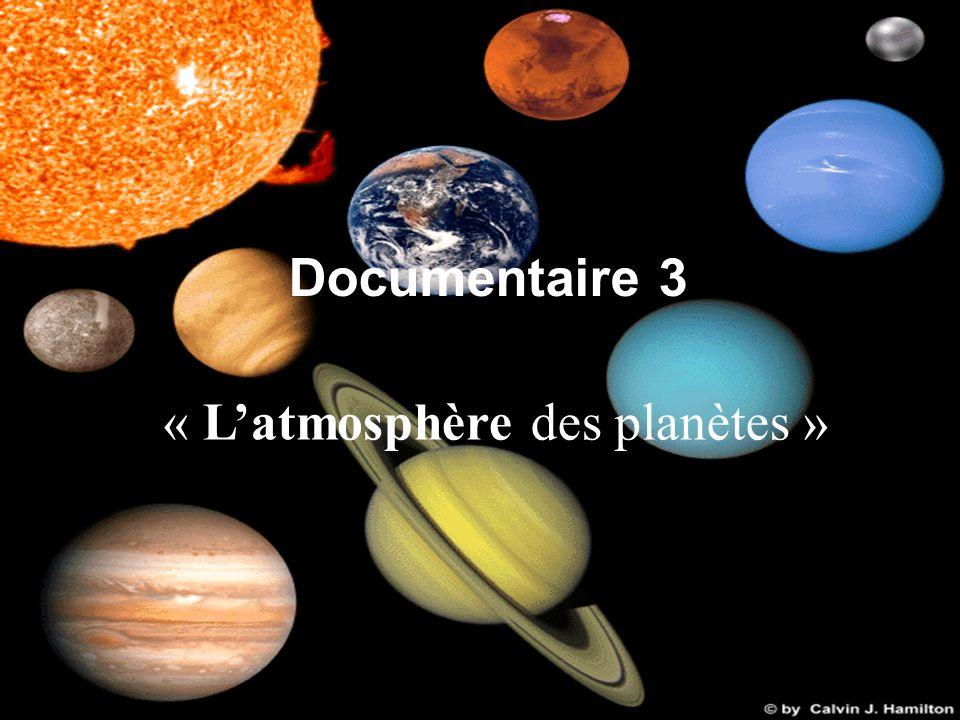 « L'atmosphère des planètes »