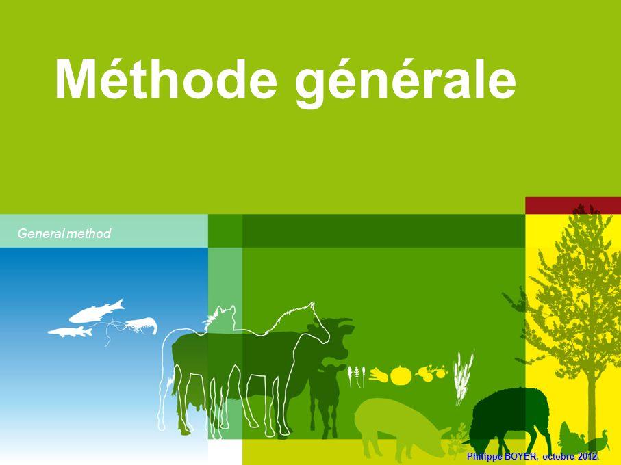 Méthode générale General method Philippe BOYER, octobre 2012
