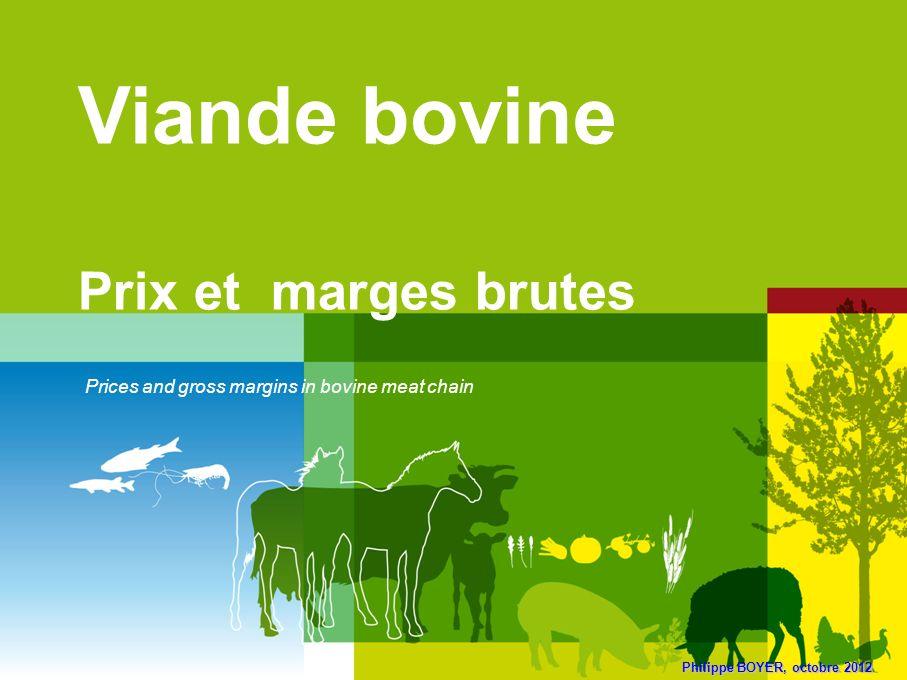 Viande bovine Prix et marges brutes