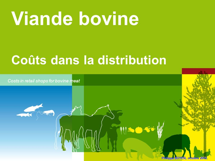 Viande bovine Coûts dans la distribution