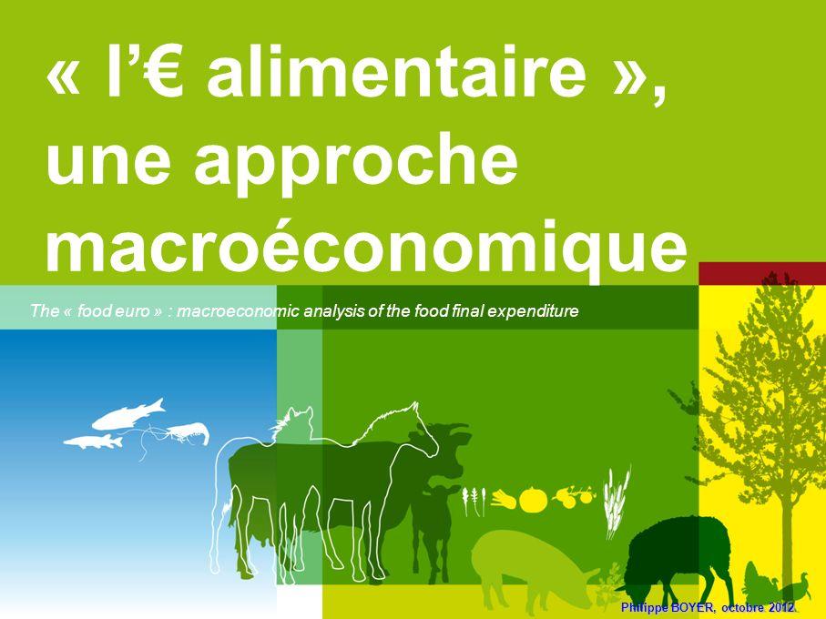 « l'€ alimentaire », une approche macroéconomique