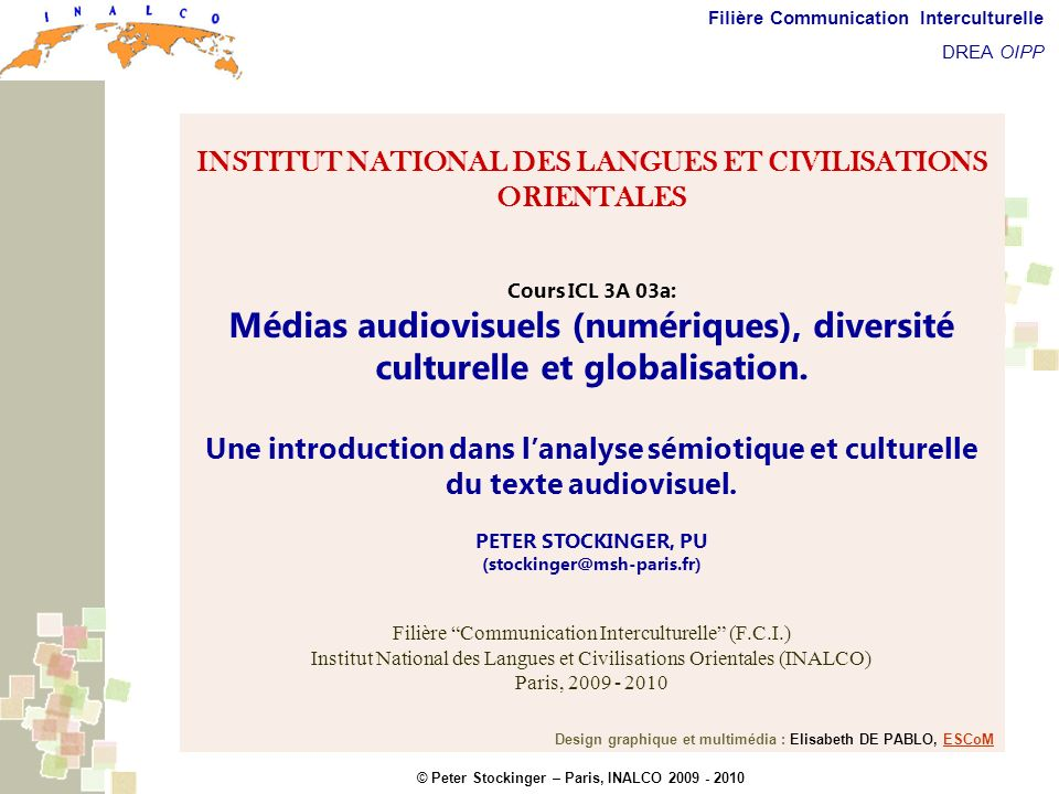 Description sémiotique et culturelle du texte audiovisuel