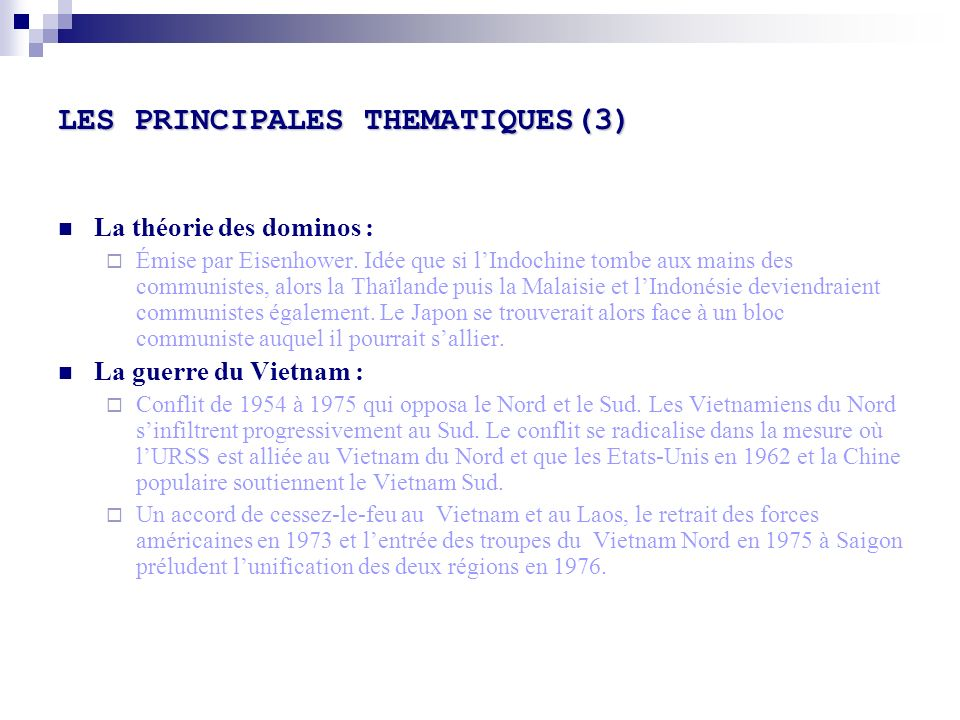 LES PRINCIPALES THEMATIQUES(3)