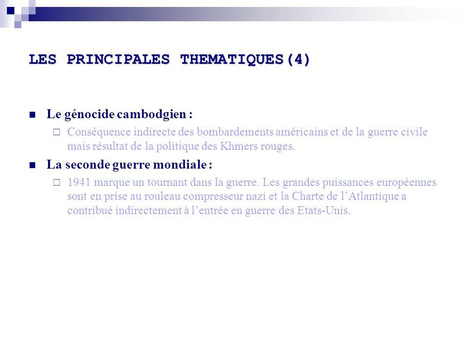 LES PRINCIPALES THEMATIQUES(4)