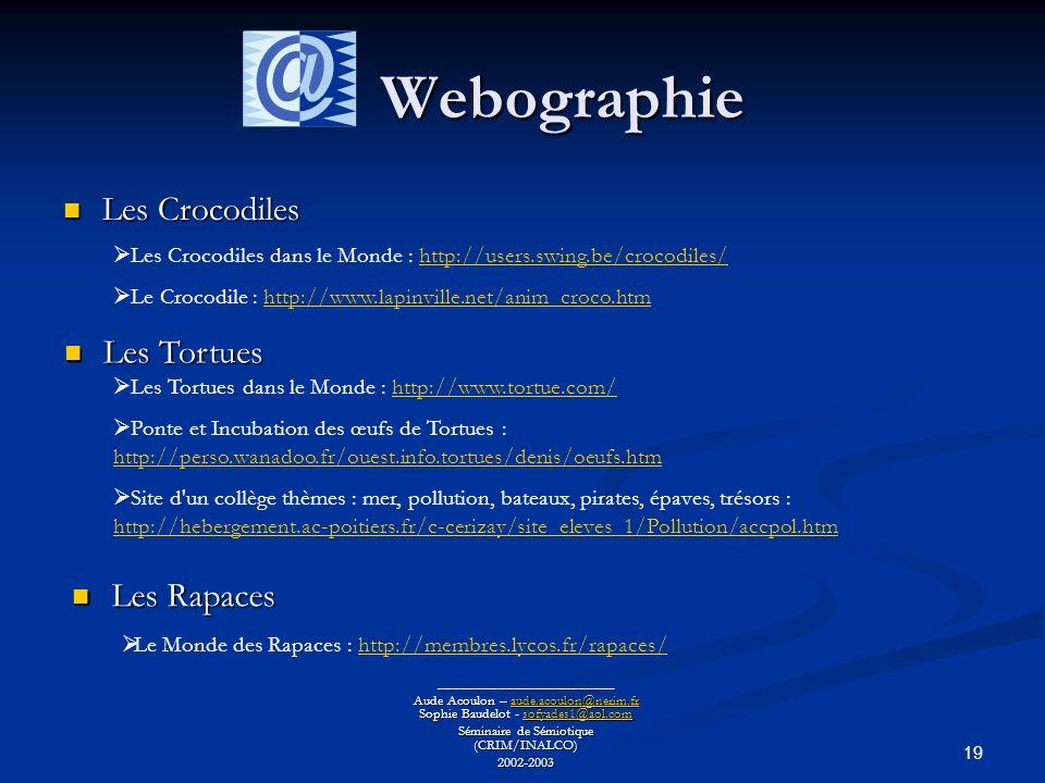 Webographie Les Crocodiles Les Tortues Les Rapaces