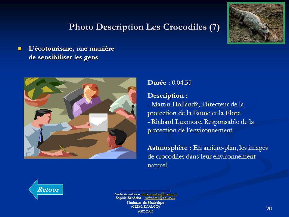 Photo Description Les Crocodiles (7)