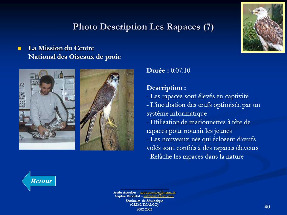 Photo Description Les Rapaces (7)