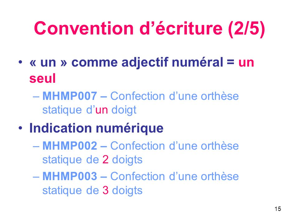 Convention d'écriture (2/5)