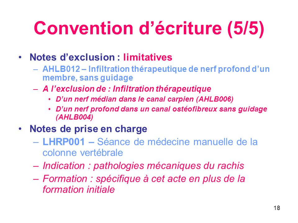 Convention d'écriture (5/5)