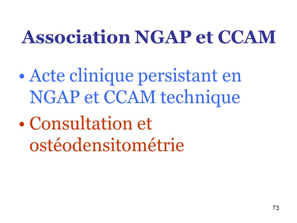 Association NGAP et CCAM