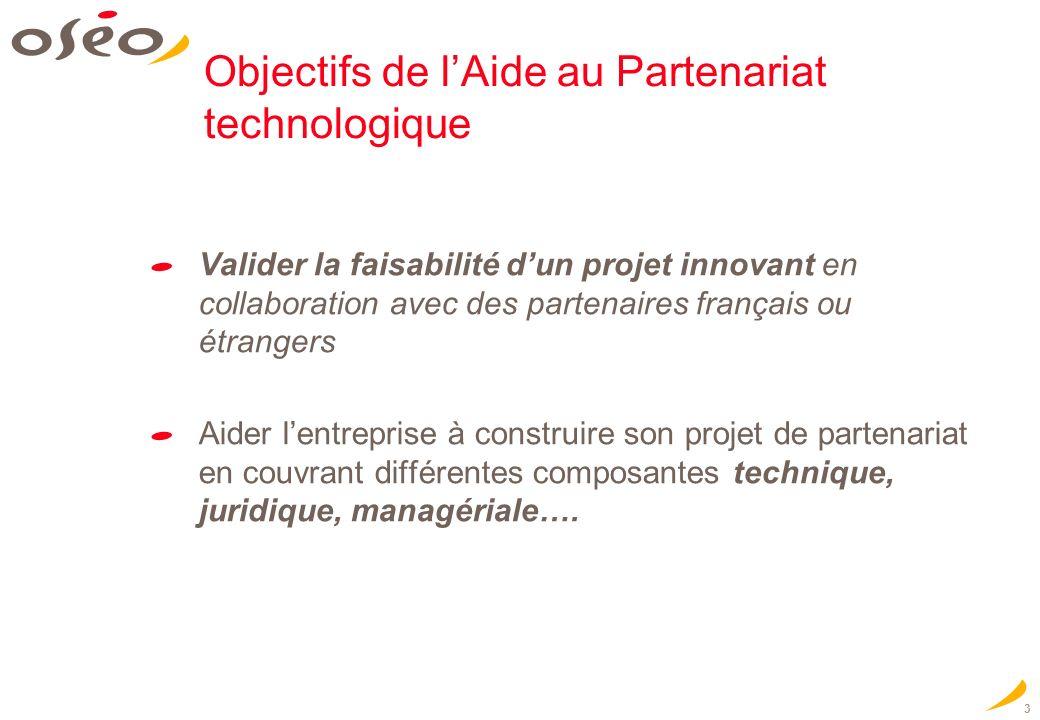Objectifs de l'Aide au Partenariat technologique