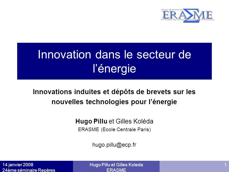 Innovation dans le secteur de l'énergie