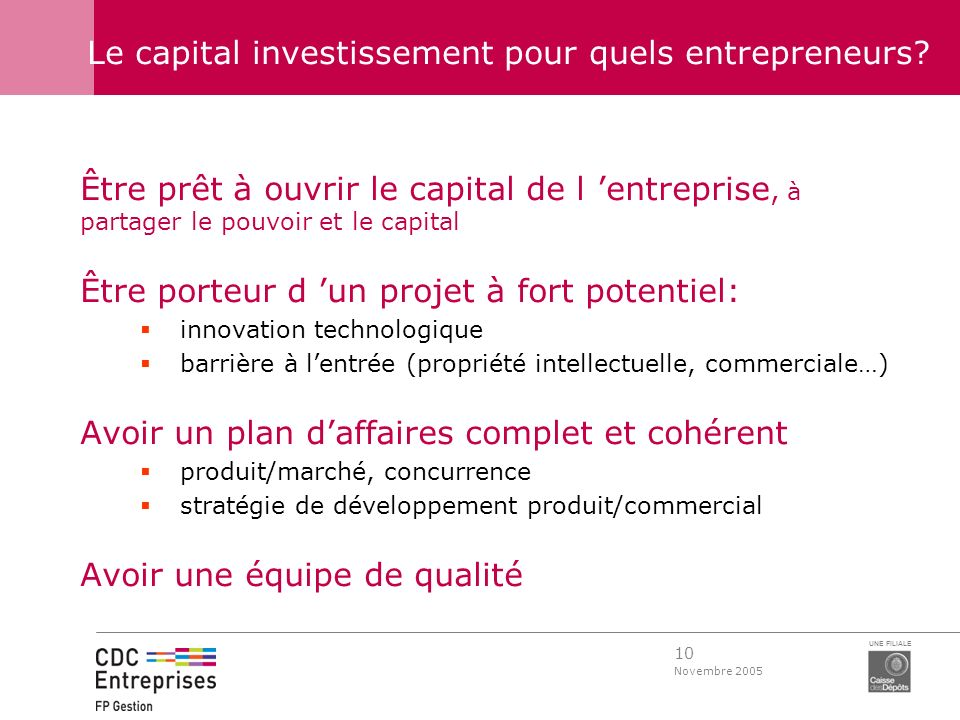 Le capital investissement pour quels entrepreneurs