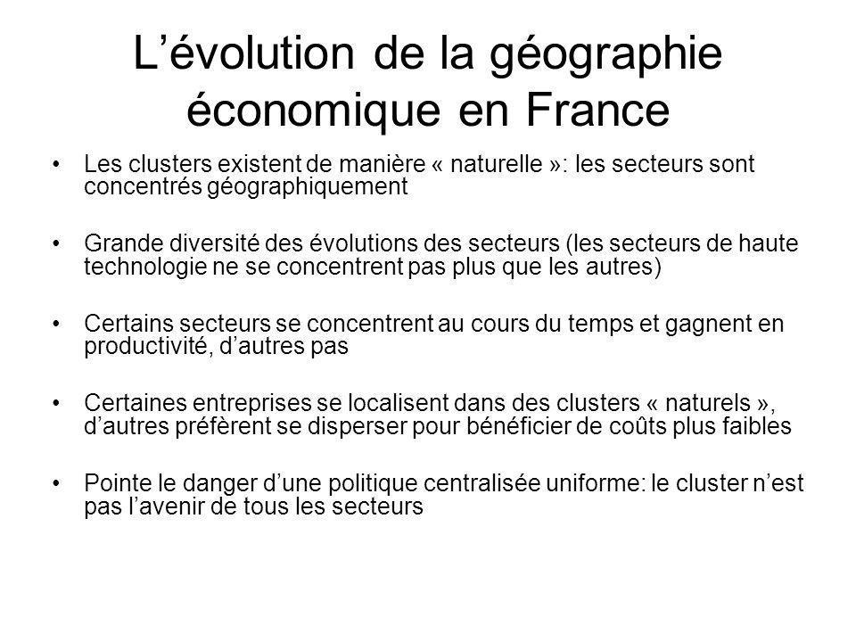 L'évolution de la géographie économique en France