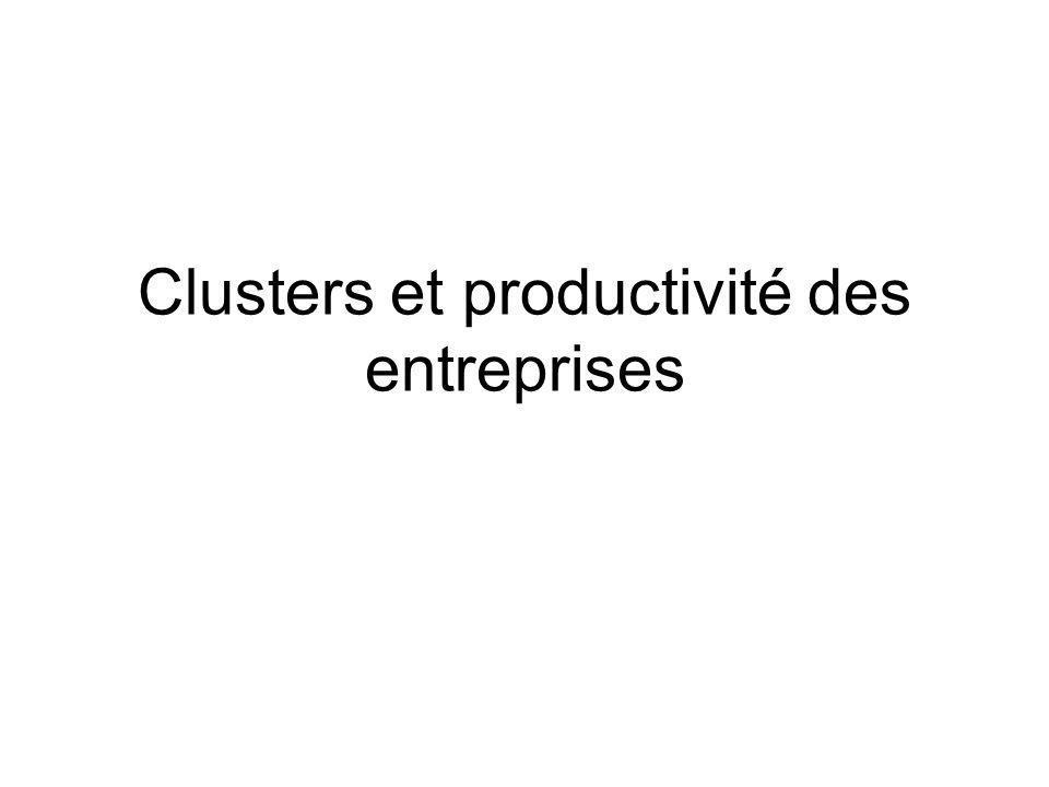 Clusters et productivité des entreprises