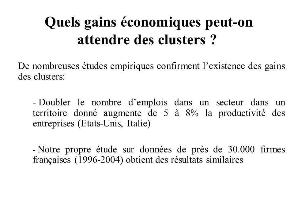 Quels gains économiques peut-on attendre des clusters