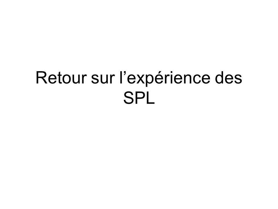 Retour sur l'expérience des SPL
