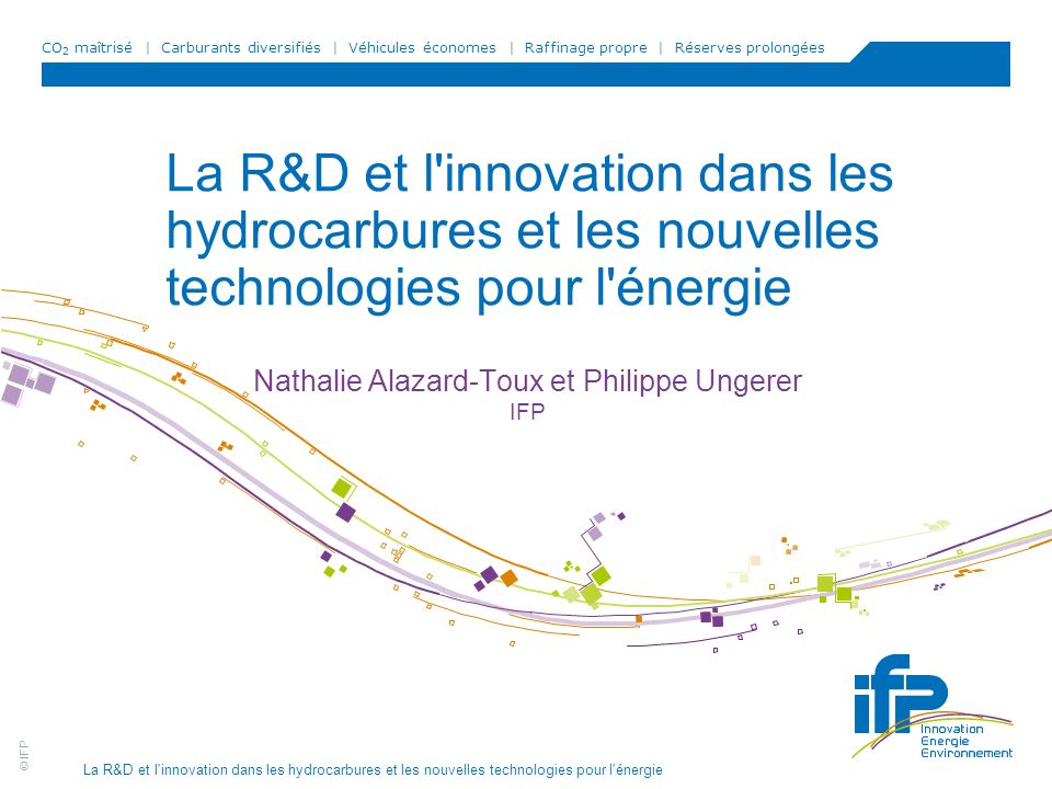 Nathalie Alazard-Toux et Philippe Ungerer IFP