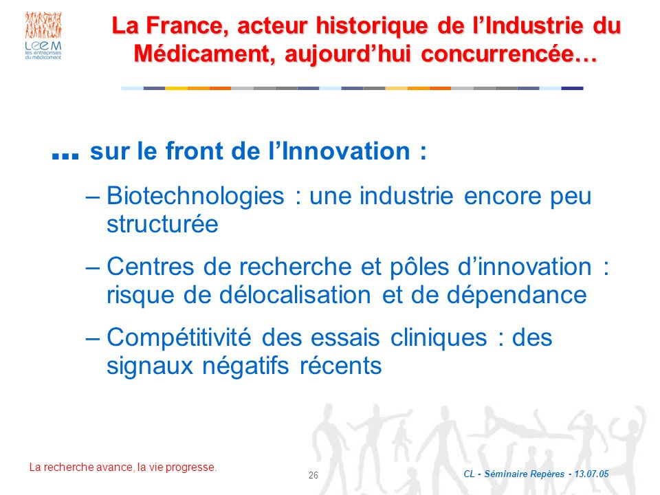 … sur le front de l'Innovation :