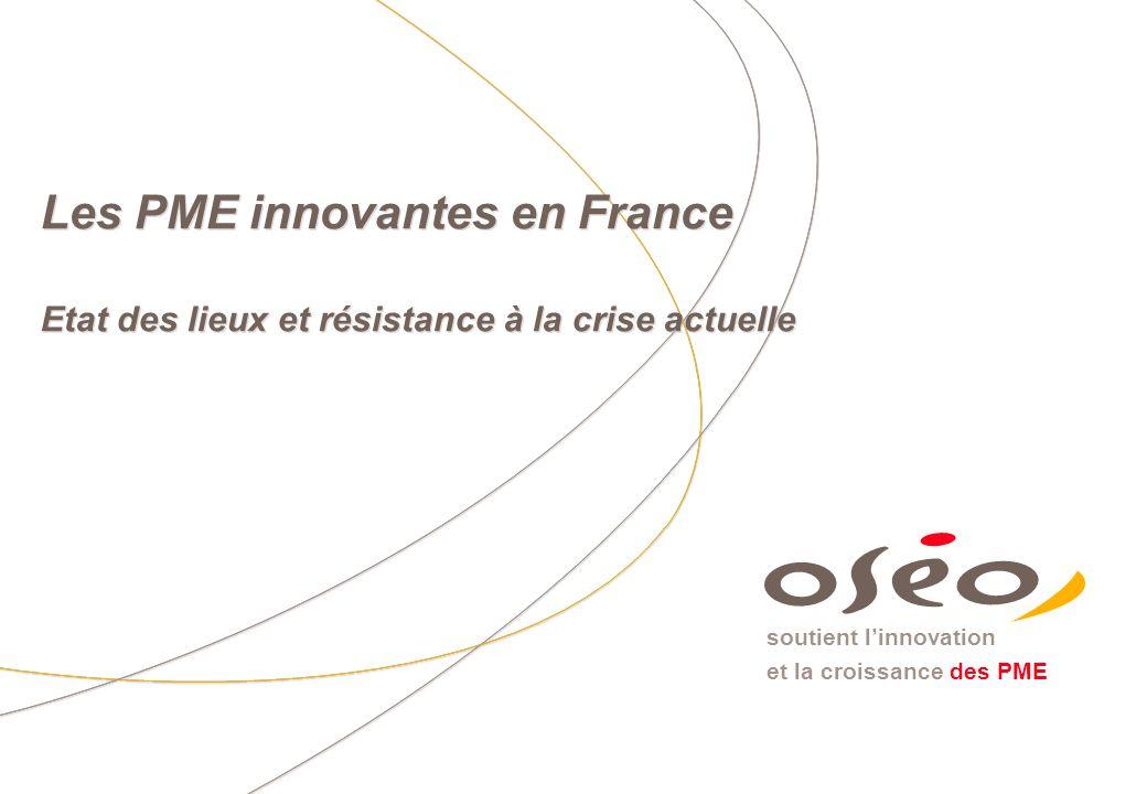 Les PME innovantes en France Etat des lieux et résistance à la crise actuelle