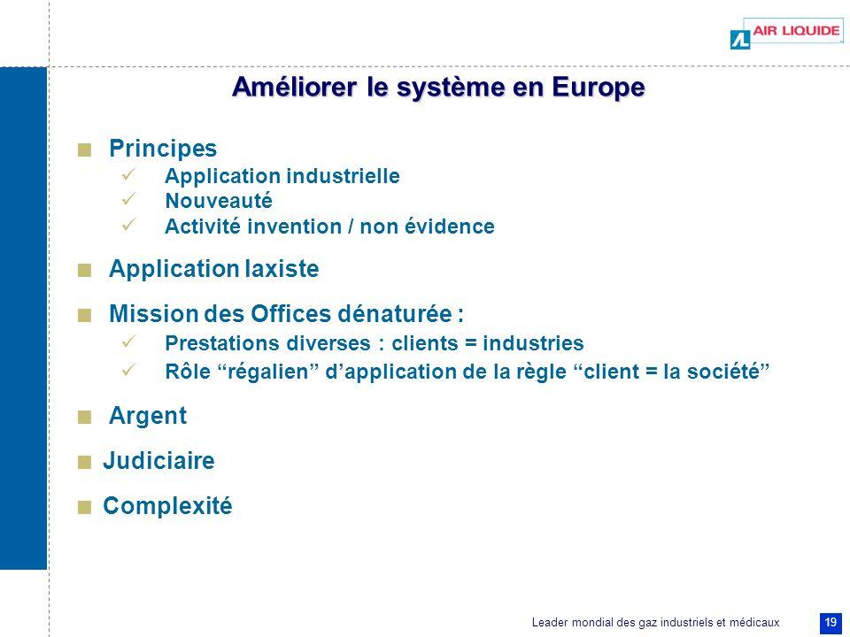 Améliorer le système en Europe