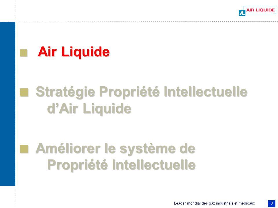 Stratégie Propriété Intellectuelle d'Air Liquide