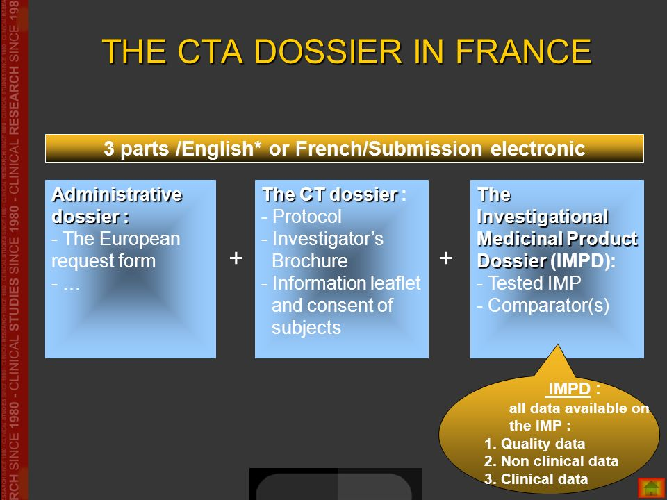 THE CTA DOSSIER IN FRANCE