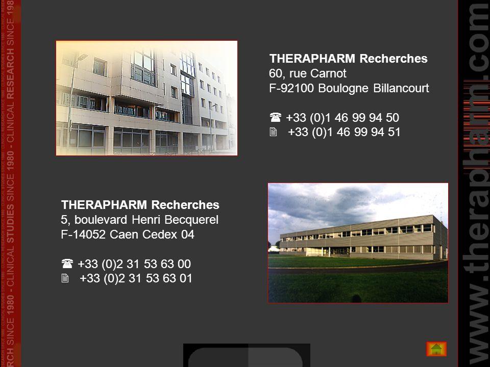 THERAPHARM Recherches 60, rue Carnot F-92100 Boulogne Billancourt  +33 (0)1 46 99 94 50  +33 (0)1 46 99 94 51