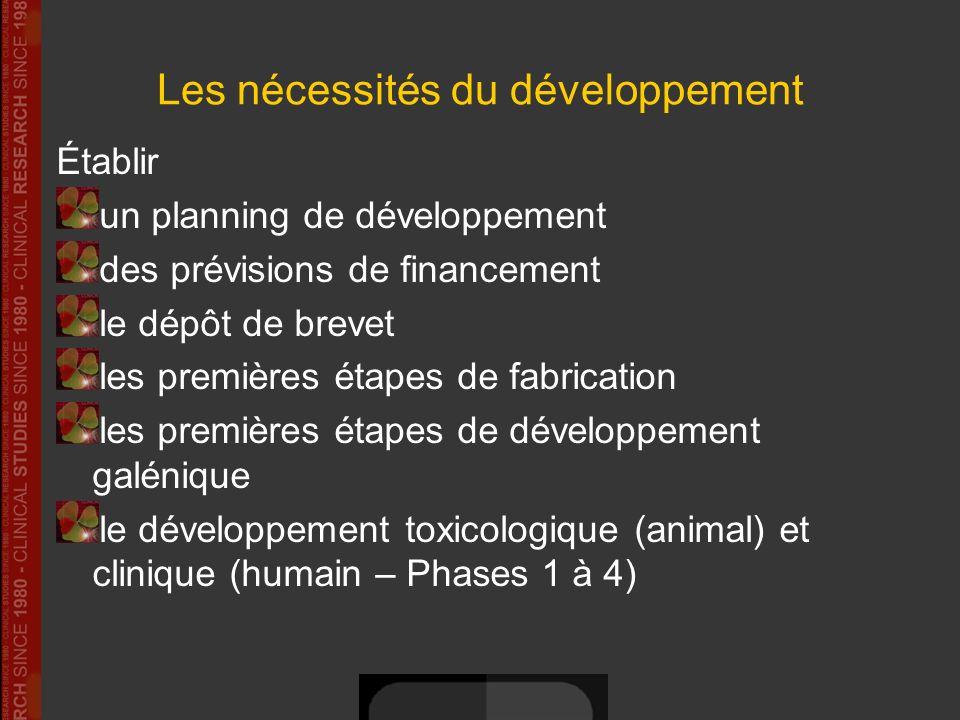 Les nécessités du développement