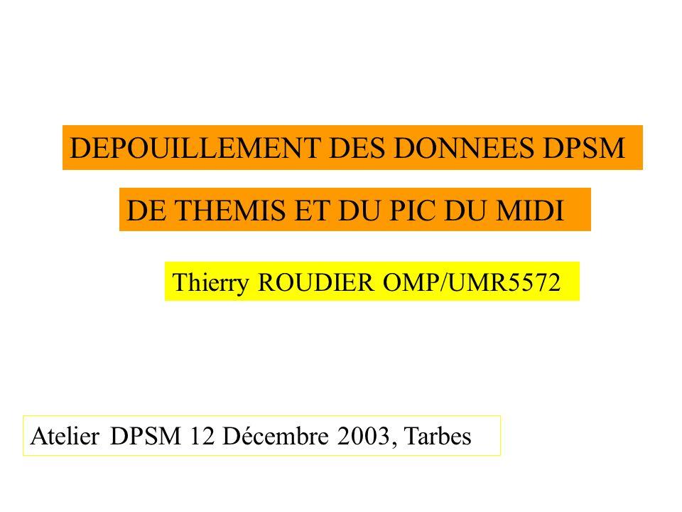 DEPOUILLEMENT DES DONNEES DPSM