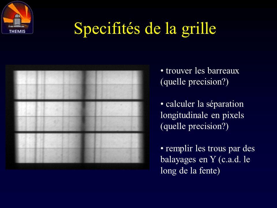 Specifités de la grille