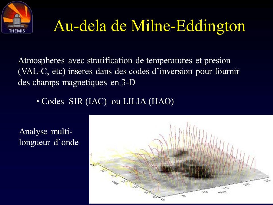 Au-dela de Milne-Eddington