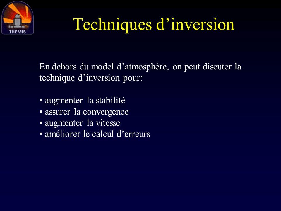 Techniques d'inversion