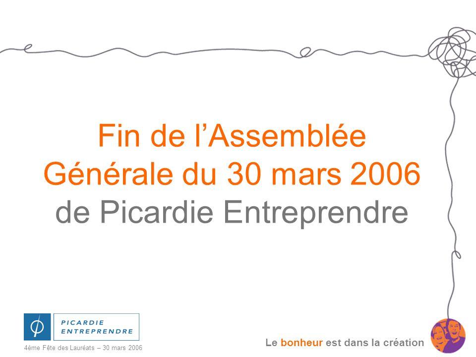 Fin de l'Assemblée Générale du 30 mars 2006 de Picardie Entreprendre