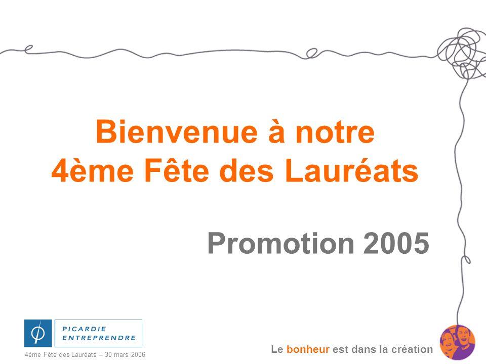 Bienvenue à notre 4ème Fête des Lauréats Promotion 2005