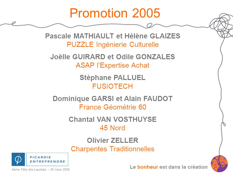 Promotion 2005 Pascale MATHIAULT et Hélène GLAIZES