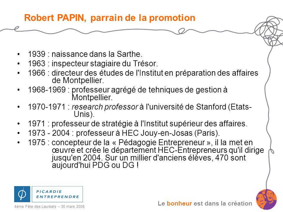 Robert PAPIN, parrain de la promotion
