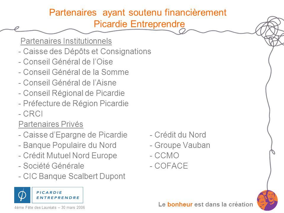 Partenaires ayant soutenu financièrement Picardie Entreprendre