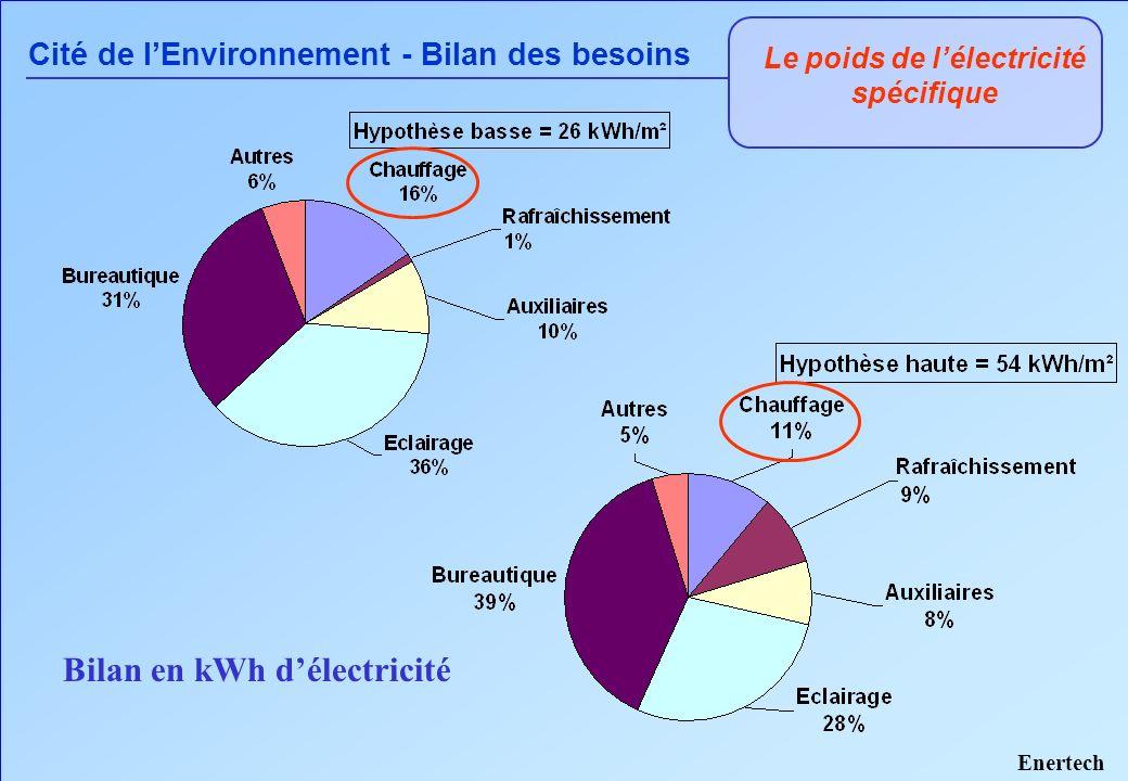 Le poids de l'électricité spécifique