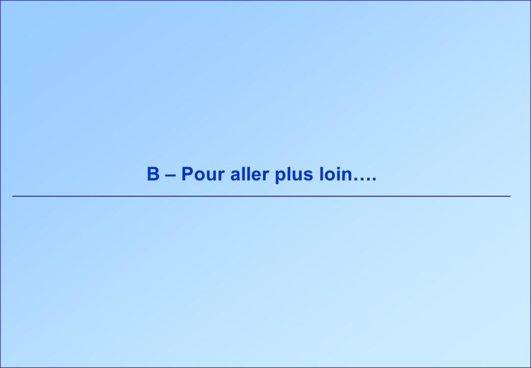 B – Pour aller plus loin….
