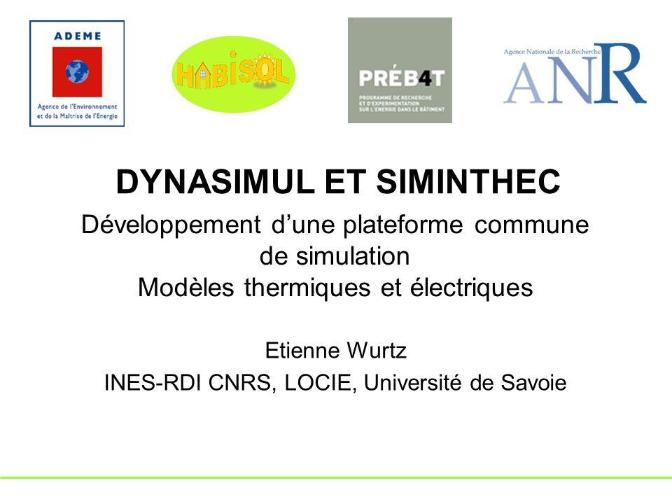 Etienne Wurtz INES-RDI CNRS, LOCIE, Université de Savoie