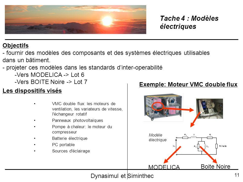 Tache 4 : Modèles électriques