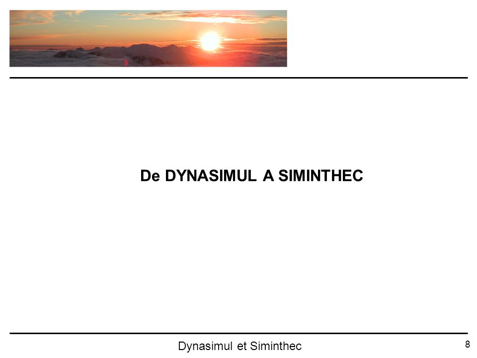 De DYNASIMUL A SIMINTHEC
