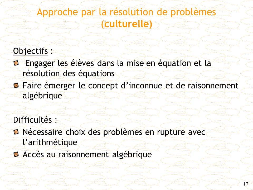 Approche par la résolution de problèmes (culturelle)
